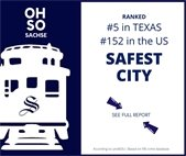 Sachse is one of the safest cities.