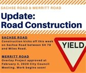 Road construction this week.