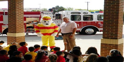 Sparky and Fire Chief Rick Coleman