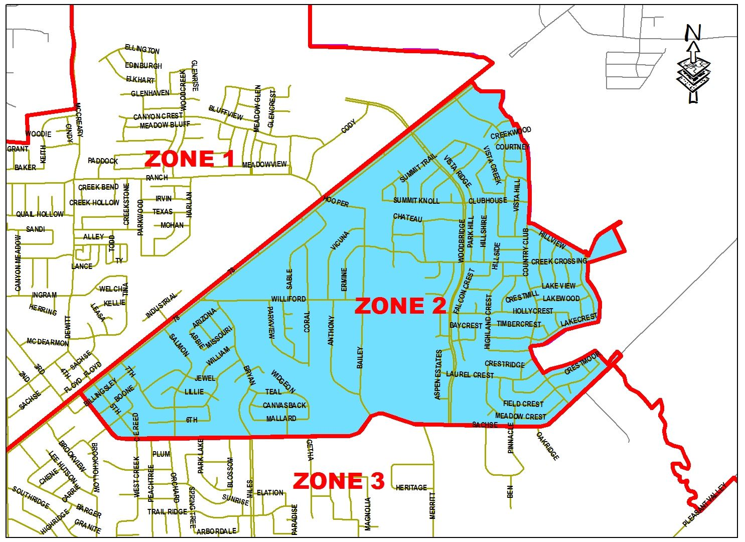 Spraying Map - Zone 2