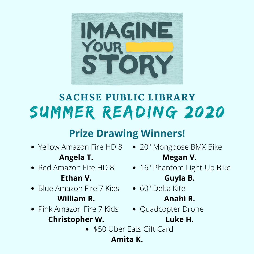 Prize Winners Summer Reading 2020