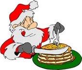 santa with pancakes