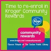 Enroll in Kroger Community Rewards to support the Friends of the Sachse Public Library