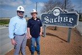 Commissioner visits Sachse