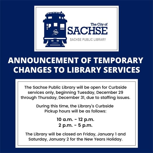 Announcement of Temporary Changes to Library Services