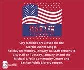Facilities close for MLK