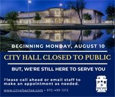 City Hall closed to public