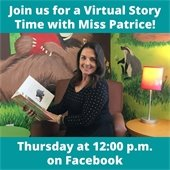 Virtual Story Time, Thursday at 12 PM on Facebook