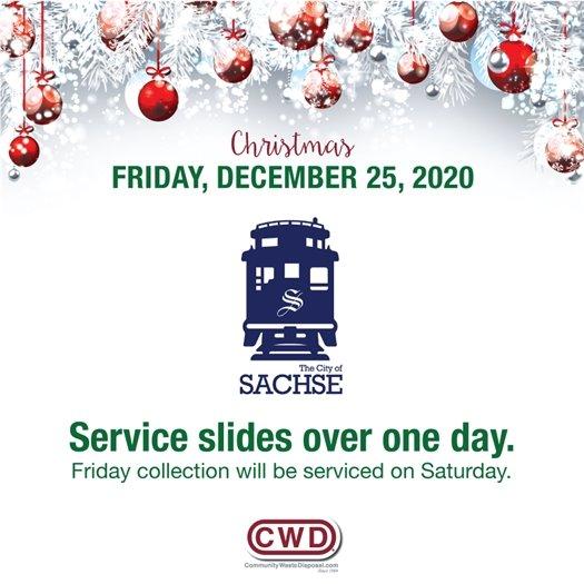 Christmas schedule change