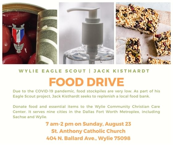 Scout food drive