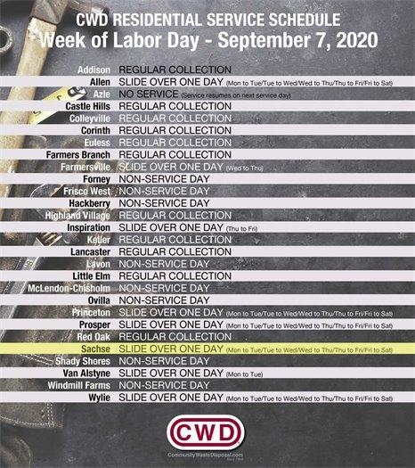 Labor Day CWD
