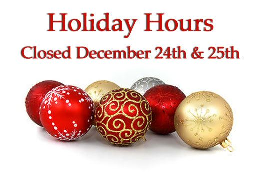 holiday hours