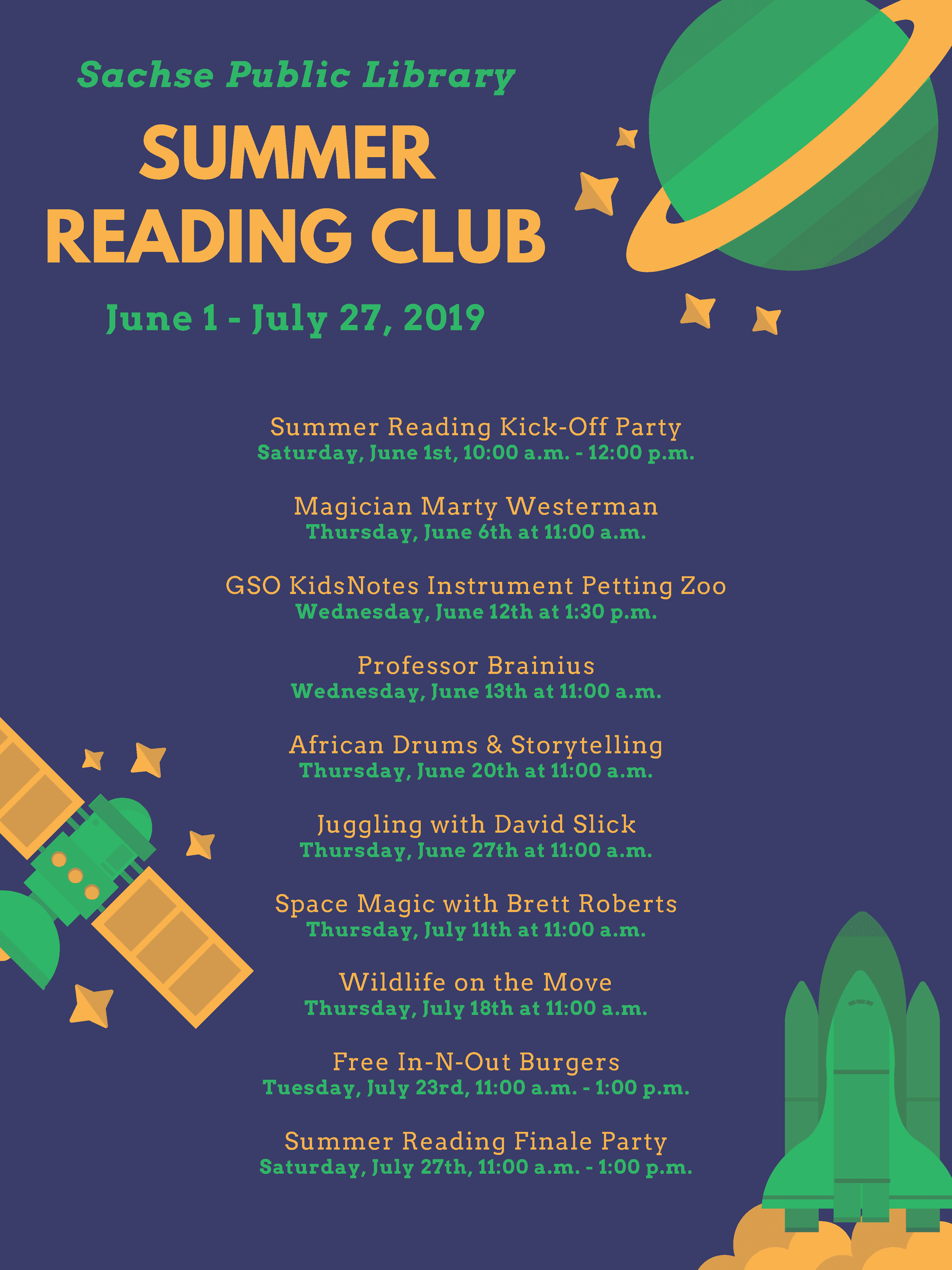 Summer Reading Special Events