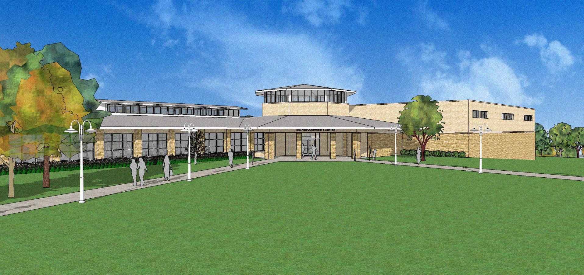 Community Center Rendering