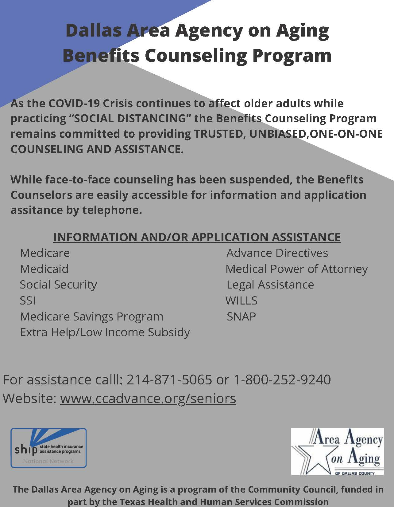 New Benefits Counseling Telephone Counseling Flyer 6-25-2020_Page_1